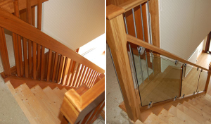 Glass staircase before and after2