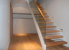 Matching American White Oak Treads and Handrail