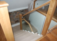 Glass Staircase installed by Alex Duncan