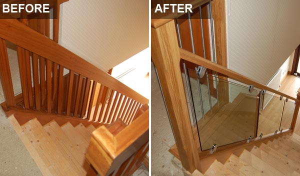 Staircase Renovations Scotland Glass Staircase Before After