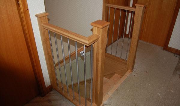 Metal rails oak