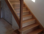 Oak Timber Stairs and Glass Staircase