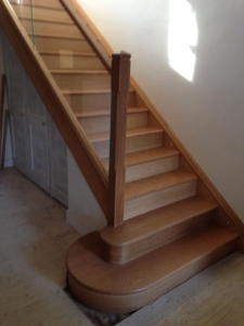 Oak Timber Treads and Glass Staircase Falkirk