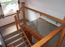 Timber and Glass Staircase renovation Scotland