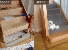 Wooden Staircase BEFORE and AFTER