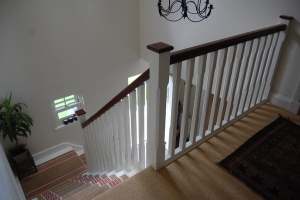 Blairgowrie farmhouse staircase with balustrading