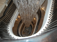 Curved handrail - Staircase renovations Scotland