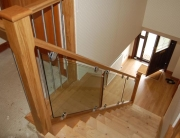 Glass and stainless steel staircase