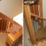 Glass staircase Before After