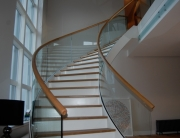 Helical handrail luxury house Gleneagles_