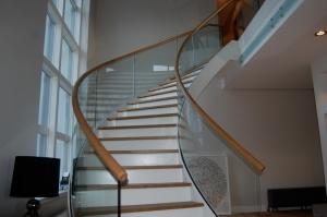 Helical handrail luxury house Gleneagles_