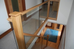 Timber and Glass Staircase Glenrothes