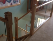 Timber and Glass Staircase with landing