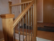 Wood and stainless steel staircase
